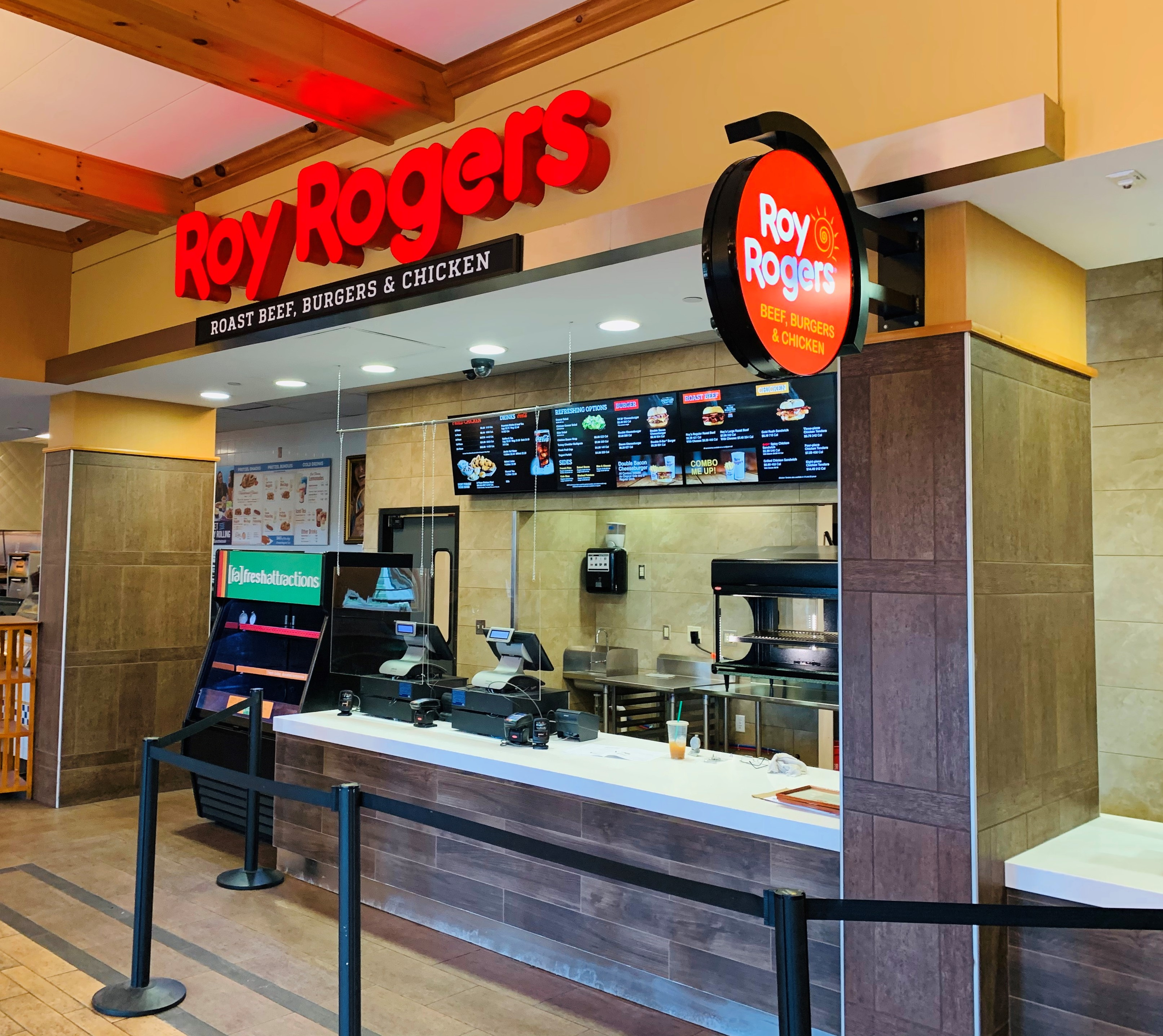 New Roy Rogers Travel Plaza Front Counter