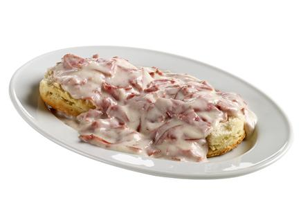 Creamed Chipped Beef and Biscuit