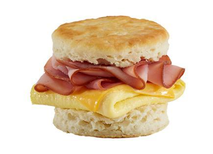 Ham, Egg & Cheese Biscuit Sandwich